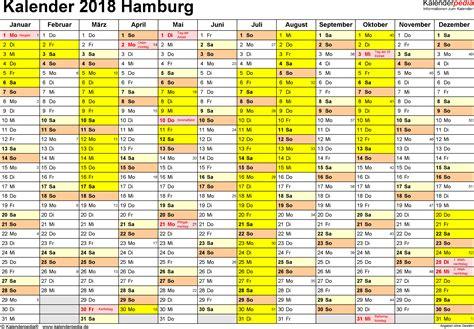 Kalender 2018 Hamburg Schulferien Ferien Hamburg 2018 220 Bersicht Der Ferientermine