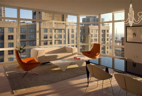 new york wohnzimmer manhattan condo modern living room new york by