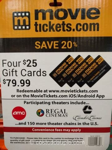 Movie Ticket Gift Cards - movietickets com gift card