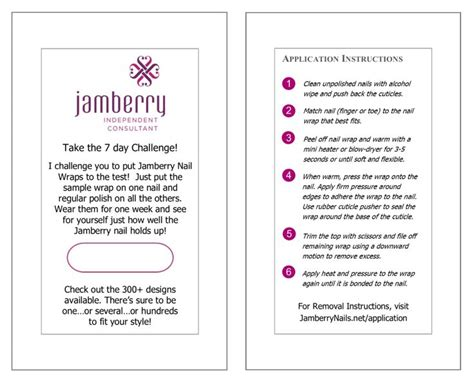 jamberry sle card template the world s catalog of ideas