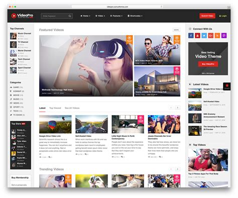 videopro theme stunning wordpress video themes for embedded and self