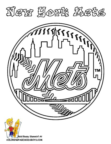 new york mets colors baseball and softball coloring pages baseball