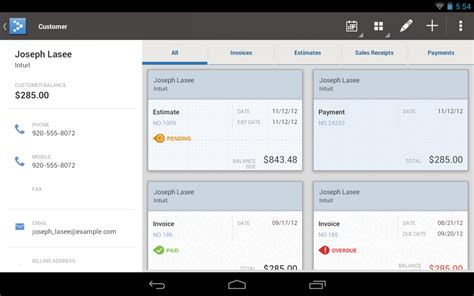 quickbooks mobile now fully optimized for android tablets android central
