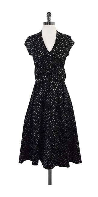 black white polka dot high low dress with accents kate spade freesia black white polka dot high low casual