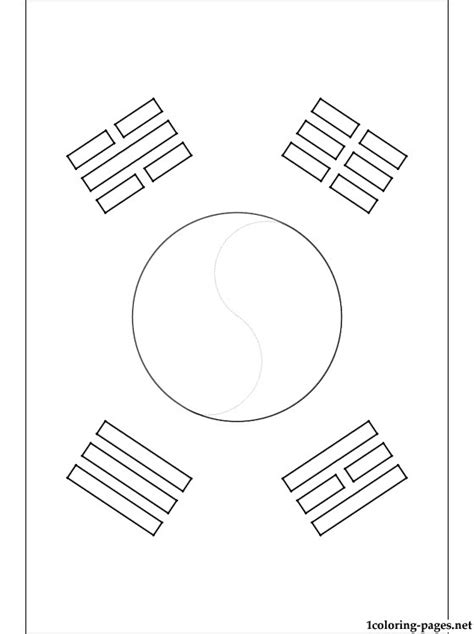 south korea flag coloring page coloring pages