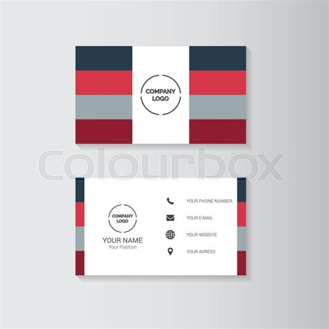 template for business cards on cardstock simple geometric template for business card stock vector