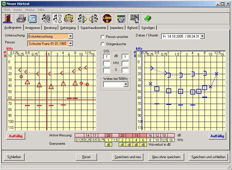 Rechnung Zuordnen Englisch Arbeitsmedizinische Audiometrie Software Verwaltung