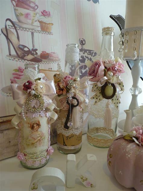 Suesafia S Cottage Shabby Chic Bottles Shabby Chic Bottles