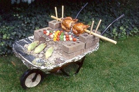 save money barbecuing this summer with one of these inventive diy grills 171 macgyverisms