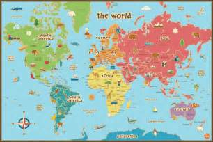 free map of world map printable
