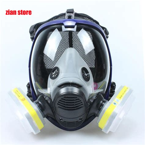 Baoweikang Masker Gas Respirator chemical mask 6800 7suits 6001 gas mask acid dust respirator paint pesticide spray silicone