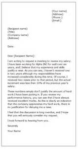 sle request letter asking for a raise