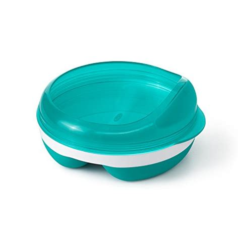 Terlaris Oxo Tot Plate With Removable Ring Blue compare price to microwavable plate tragerlaw biz