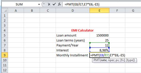 housing loan emi calculation formula best excel tutorial how to calculate emi