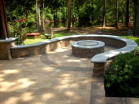 Brick Patio With Pit by For The Home On Occasional Chairs Landscape
