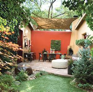 how to turn an outdoor space into an outdoor room