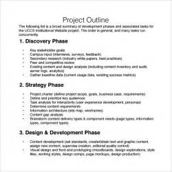 Outline Templates by Project Outline Template 9 Free Documents In
