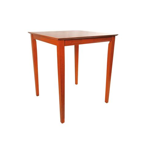 Square Bar Table Boraam Square Pub Table In Cherry 70664 The Home Depot