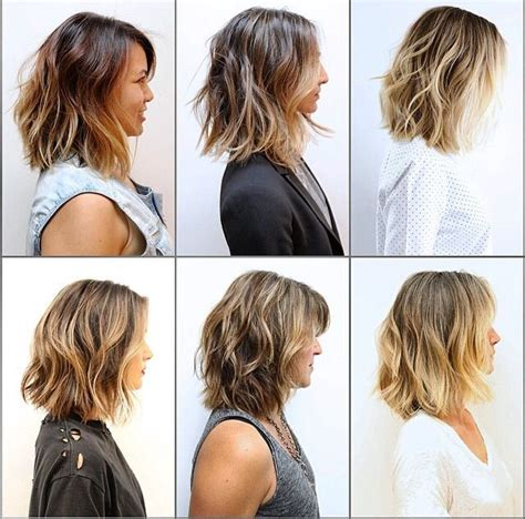 a long bob with wavy texture for fine hair lob with waves wavy textured bobs hair i love pinterest bobs