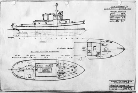 blueprint designs russel brothers ltd steelcraft winch boat and warping tug
