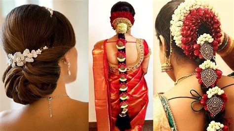 Simple South Indian Bridal Hairstyles For Short Hair