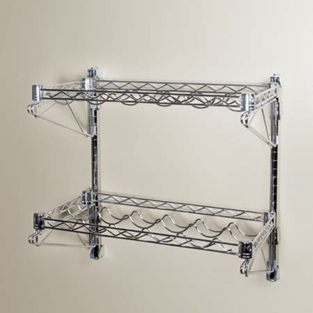metal wall mounted shelves cheap bathroom colour bathroom wire rack wall shelving 14 quot d 2 shelf chrome wire wall