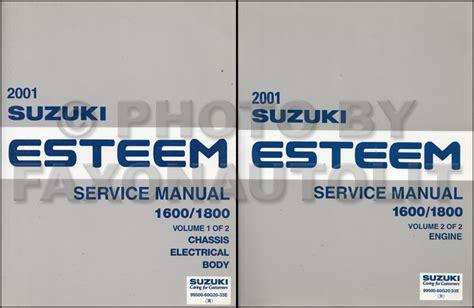 1996 suzuki esteem repair shop manual supplement original search