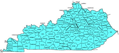 ky map by county kentucky counties
