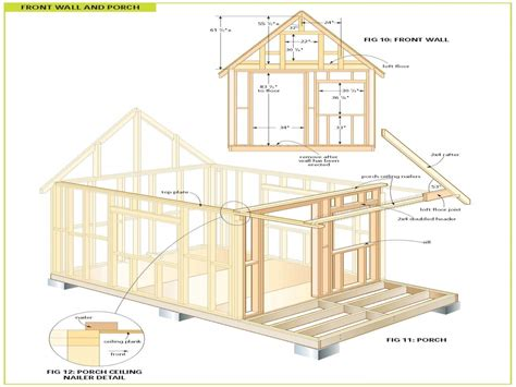 cottage floor plans free wood cabin plans free cabin floor plans free bunkie plans