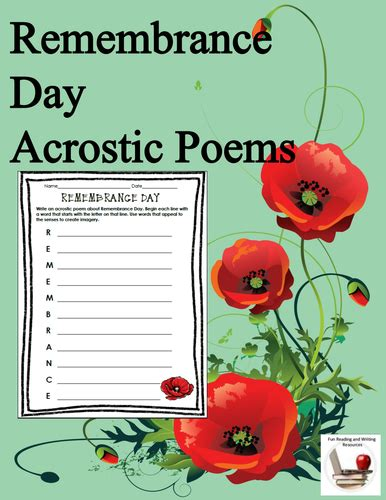 day acrostic poem remembrance day acrostic poems by us lessons tes