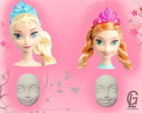 frozen doll mold elsa silicone mold frozen doll mould