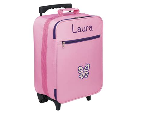 kids trolley suitcases pink personalised review