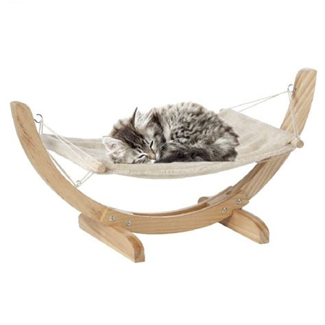 Hamac A Chat hamac pour chat gris et naturel pani 232 re niche
