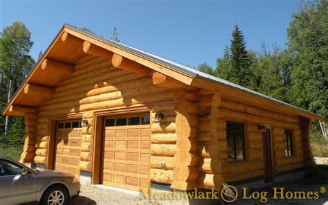 log cabin garages garages and barns meadowlark log homes
