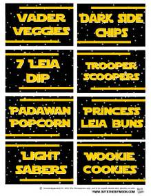 may the 4th be with you star wars food free printables