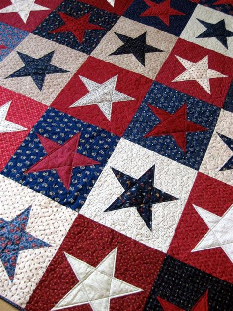 Patriotic Quilts Olympics Patriotic Quilt White And Blue By Sallymanke
