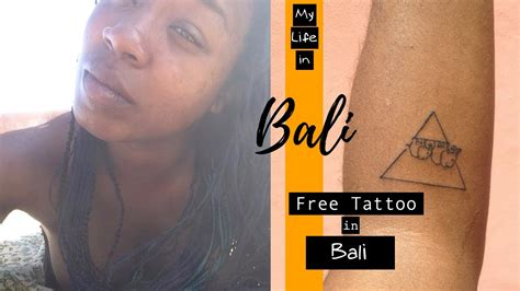 free tattoo tuesday bali bali getting a free tattoo in bali indonesia my life in