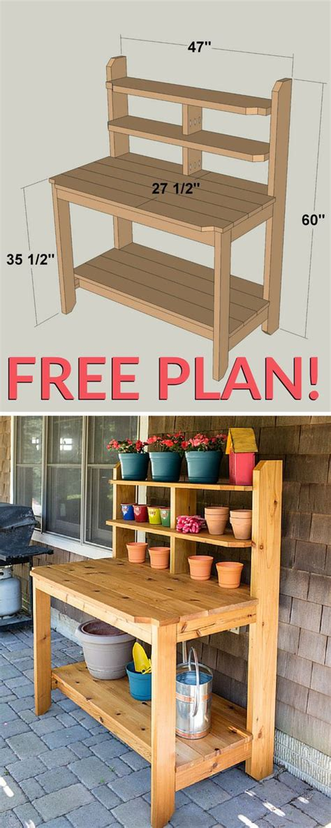 build potting bench how to build a potting bench free plan total survival