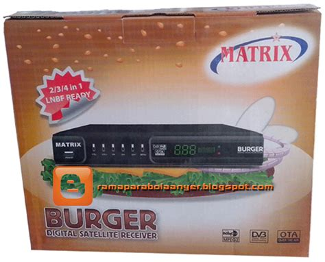 Harga Digital Matrix Burger rama parabola anyer produk harga receiver matrix prolink
