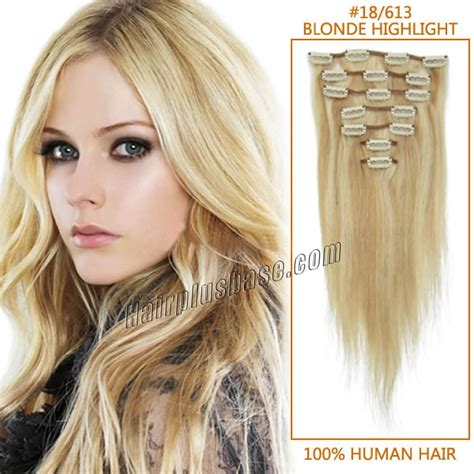 30 inch human hair extensions 30 inch 18 613 highlight clip in remy human hair