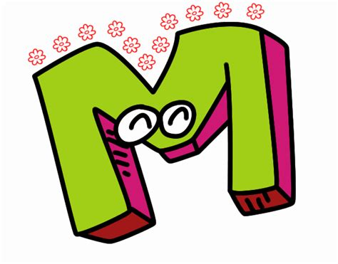 desenho de letra m pintado desenho de letra m pintado e colorido por usu 225 n 227 o registrado o dia 02 de agosto do 2016