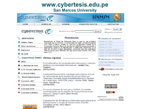 digital dissertation peruvian network of digital thesis cybertesis as a
