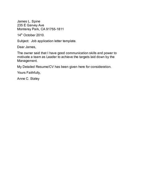 application letter template docx application letter sle docx