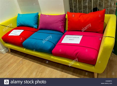 colorful sofas colorful sofas on display in household