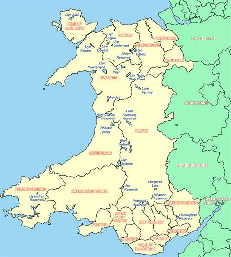 map of wales map of wales in