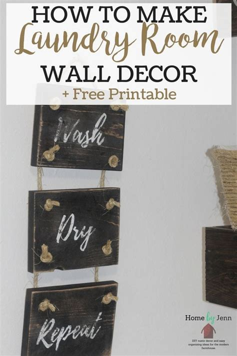how to make diy laundry room decor home by jenn