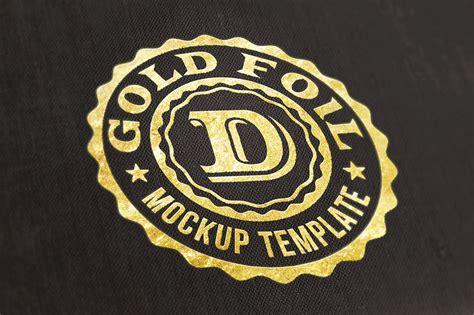 free logo text mock up gold foil dealjumbo