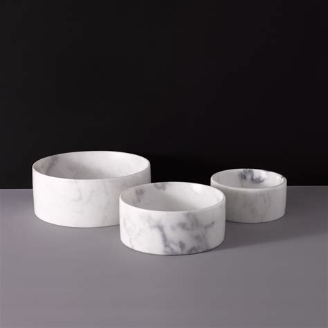 Jo In Pet Bowl High Bevel L marble water bowl from mr mr new york