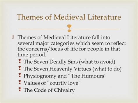 themes in renaissance literature medieval literature literatura medieval