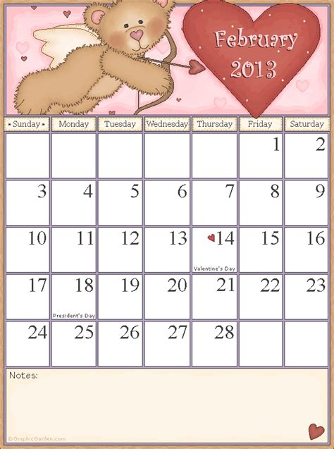 February 2013 Calendar Calendar For February 2013 United States Rachael Edwards